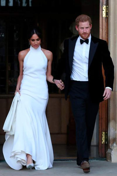 Duchess of Sussex Meghan Markle in Stella McCartney at her royal wedding reception in May, 2018