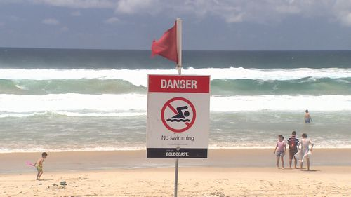 A number of beaches are closed as a result of the waves.