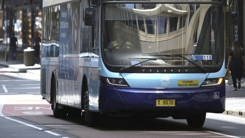 A number of Sydney bus routes have been added to a list of coronavirus exposure sites. sydney buses transport stock file