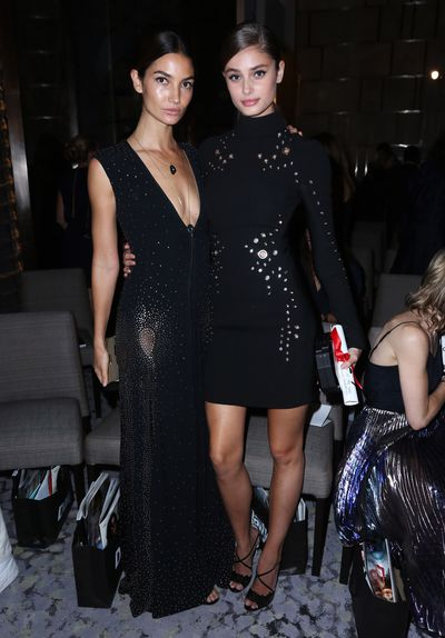 Lily Aldridge (with Taylor Hill)