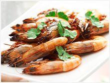 Barbecued ginger prawns