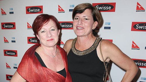 Christine Forster (right) and her partner Virginia Edwards. (Getty)