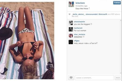 Baking hot on the beach, this Newastle girl knows how to work it!<br/><br/>#bikinibabe