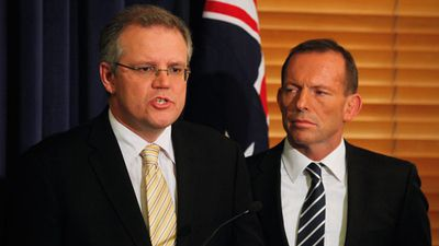 <p>You wouldn't know it from this photo but Scott Morrison is widely considered to be Tony Abbott's best performing minister and his personal favourite.</p>