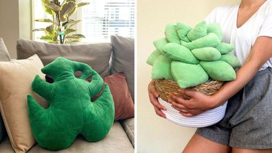 Green Philosophy Co indoor plant cushions