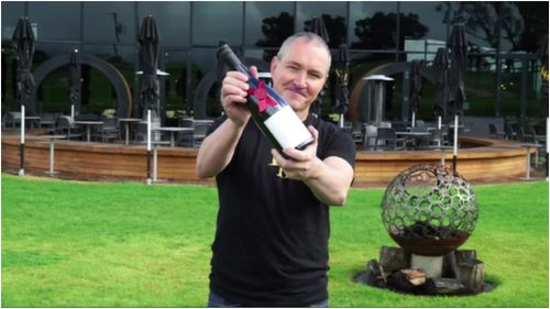 """Levantine Hill winemaker Paul Bridgeman said he was """"humbled"""" by the awards. (9NEWS)"""