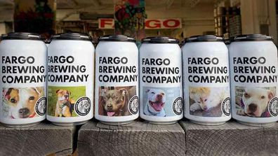 Fargo Brewing beers cans dogs for adoption 2