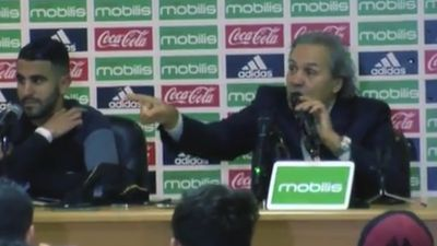 Algerian national football coach unloads on journalist