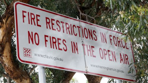 Total fire ban for parts of northern Victoria with windy forecast