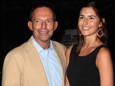 Tony Abbott and daughter Frances Abbott