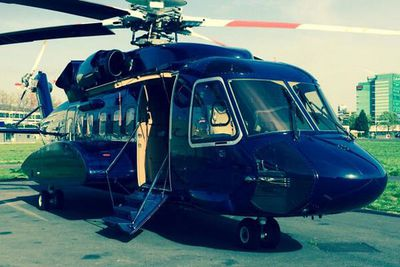Russ tweeted this helicopter pic before the Paris premiere. So THAT's how he gets to each city so fast.