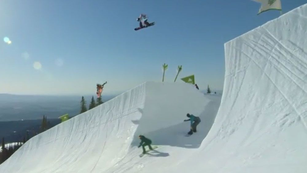Perfect timing creates amazing snowboard film