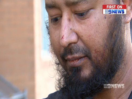 Uber driver Fazal Rehman, 33, was pulled from his vehicle and viciously attacked by armed thieves in Melbourne overnight. Picture: 9NEWS.