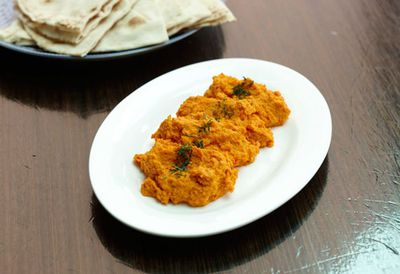 """<a href="""" http://kitchen.nine.com.au/2016/05/05/15/45/cumin-and-honeyroasted-carrot-dip"""" target=""""_top"""">Cumin and honey-roasted carrot dip<br> </a>"""