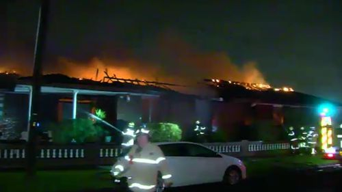 The fire erupted about 4am today. (9NEWS)