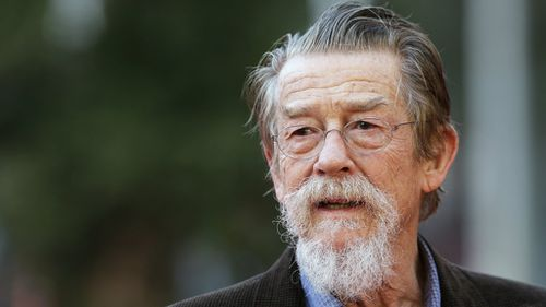 English actor John Hurt has died aged 77. (AAP)