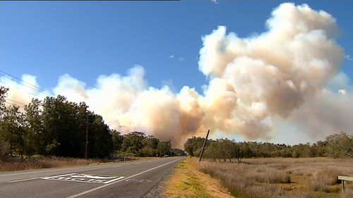 Fire services had hoped the winds would subdue long enough to contain the fire in Salt Ash.