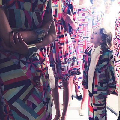 <p>Karl Lagerfeld's grandson Hudson Kroenig and his model posse.</p>