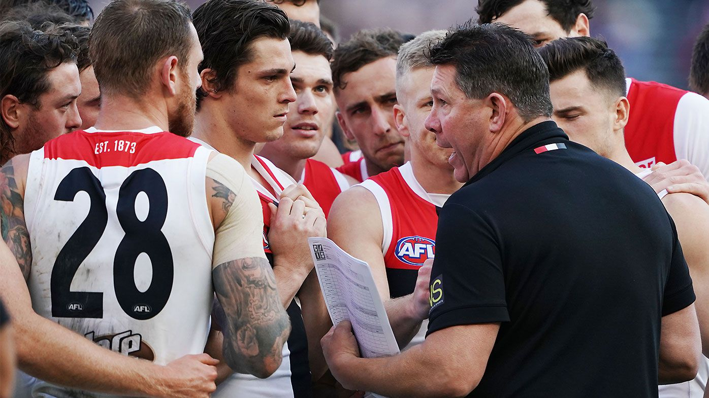 St Kilda caretaker coach Brett Ratten fumes at team after poor second half against Carlton