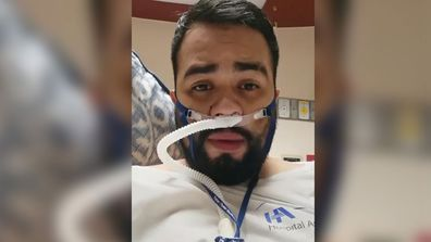 Sergio Humberto Padilla Hernandez was hospitalised with COVID-19 when filmed a message for his family.