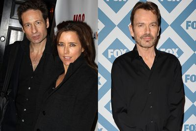 Forget X-Files, we're opening the EX-Files! After hubby David Duchovny admitted to being unfaithful for several years (even checking into sex rehab) Tea Leoni sought revenge. <br/><br/>And co-star Billy Bob Thornton was the perfect guy to rumple the sheets with in 2008. Once he'd finished rehab, Duchovny took a look at Leoni's phone where he found dirty texts sent by Thornton...<br/><br/>...which is probably why the pair finalised divorce in 2011. <br/>