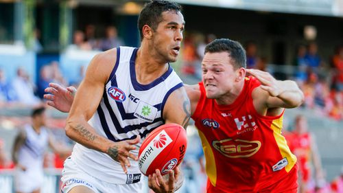 The 28-year-old played six games for the Dockers.