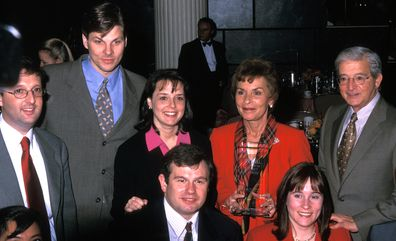 """Judy Sheindlin, Jerry Sheindlin and family attend Ladies' Home Journal """"One Smart Lady Award"""" on February 23, 2000"""