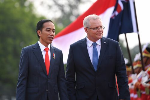 Mr Morrison is also seeking to strengthen ties with Indonesia amid a possible free trade agreement.