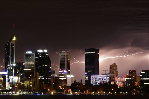 Perth had its heaviest rain fall since mid-January over the weekend. (Pic: Russell Maverick Macfarlane)