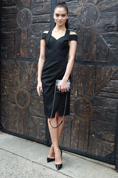 Shanina Shaik in Dion Lee at Australian Fashion Week, 2014. Image: Getty