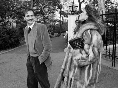 James Taylor and Carly Simon in 1977