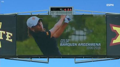 Golfer Celia Barquin Arozamena honoured with touching Iowa State tribute after tragic killing