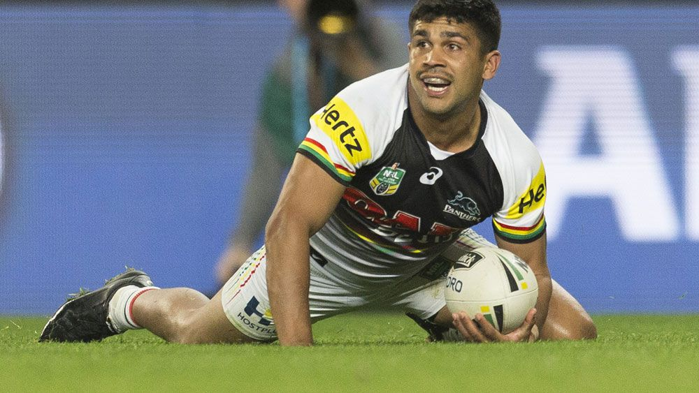 Tyrone Peachey scored a controversial try for the Panthers. (AAP)
