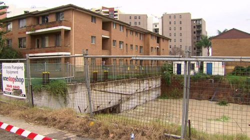 A saturated building site next door is continuing to cause problems. (9NEWS)