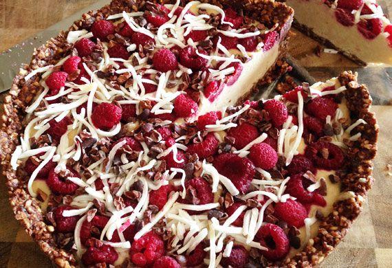Kara Conroy's raw coconut raspberry cacao cake