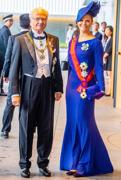 Enthronement Ceremony Of Emperor Naruhito of Japan - King Carl Gustaf XI and Crown Princess Victoria of Sweden
