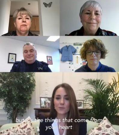 Kate Middleton spoke to nurses via video call