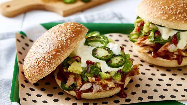 Chur Burger's pulled chicken burger