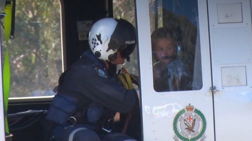 Three-year-old James Skillen, who went missing from a property near Mudgee NSW yesterday, was reunited with his family today after a massive police search. Picture: Supplied.