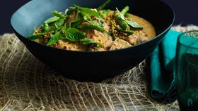 Pork neck, snake bean and peppercorn curry
