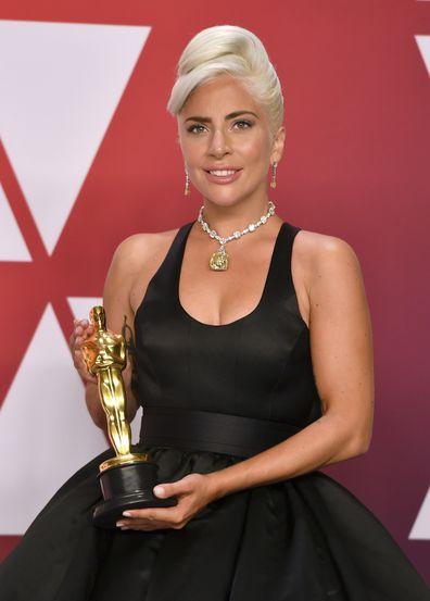 Lady Gaga, Oscars, trophy, Best Original Song, Shallow