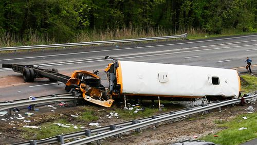 A child and adult have been killed after a shocking bus crash in the US. (Getty)