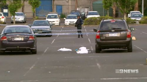 The ex-bikie then allegedly kicked or stomped on the man's head. Picture: 9NEWS
