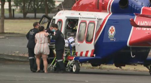 Child hit by car in Melbourne airlifted to hospital with serious injuries