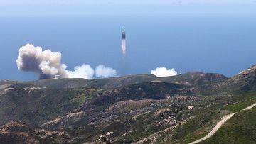 US spy satellite launches into space from California