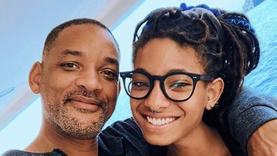 Will Smith and daughter Willow Smith on vacation