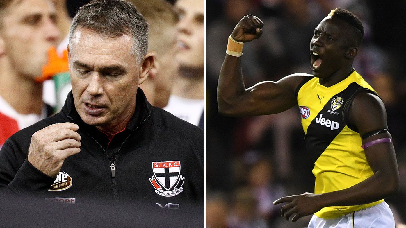 Shocking St Kilda ruck brain fade sums up struggles as Richmond run away late