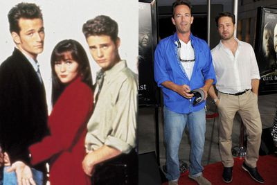It's Brandon and Dylan! Jason Priestley and Luke Perry had a laugh together at an LA premiere in August 2013, 13 years after their hit teen drama wrapped up.
