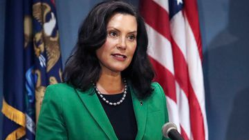 Michigan Gov. Gretchen Whitmer addresses the state during a speech in Lansing