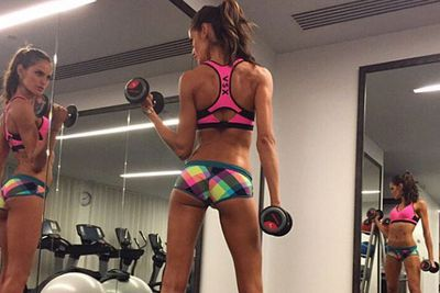 <b>Insta-followers</b>: 1.6 million <br/><br/><b>Why she wins Instagram:</b> This Victoria's Secret angel works <i>very</I> hard on her taut tum and perfect pins. <br/>How do we know this? Because her Insta-feed is full of fierce boxing vids, intense weight training and sweaty cardio sessions... unlike the rest of those VS babes. <br/>If you need a gentle push to jump back on that treadmill, Izabel's your girl.
